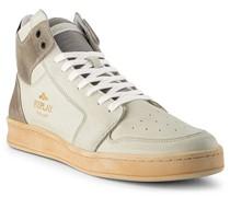 Schuhe Sneaker Leder wollweiß-