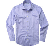 Herren Hemd Shaped Fit Baumwolle hellblau
