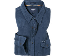 Herren Hemd, Regular Fit, Baumwolle, blau