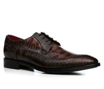 Herren Schuhe Derby Leder marrone braun,rot