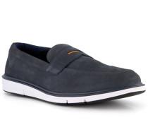 Schuhe Slipper Nubukleder wassertauglich navy