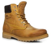 Herren Schuhe Schnürstiefeletten, Kalbleder, camel beige