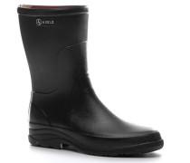 Herren Schuhe Gummistiefel, Naturkautschuk, schwarz