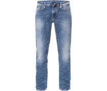 Jeans Tight Fit Baumwoll-Stretch 12oz hell
