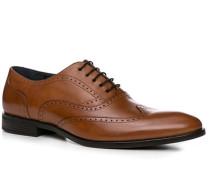 Herren Schuhe Brogue Rindleder cognac