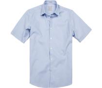 Herren Hemd, Modern Fit, Baumwolle, bleu blau