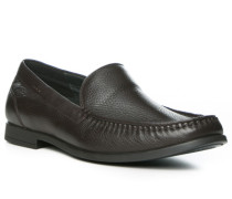 Herren Schuhe Slipper, Leder, braun