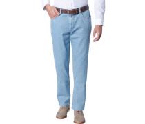 Herren Jeans Contemporary Fit Baumwoll-Stretch hellblau