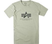 Herren T-Shirt, Baumwolle, olivgrün