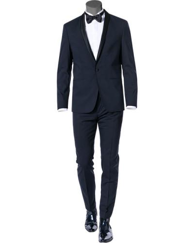 Anzug Smoking, Fitted, Wolle, nacht