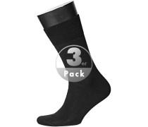 Herren  Socken Merinowolle schwarz