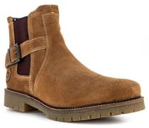 Schuhe Chelsea Boots Veloursleder warmgefüttert
