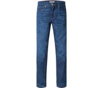 Herren Jeans Slim Fit Baumwolle indigo blau