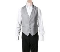Anzug Cut-Weste Classic Line Wolle-Seide silber