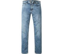 Herren Jeans Modern Fit Baumwoll-Stretch indigo