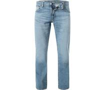 Jeans 527 Slim Fit Baumwoll-Stretch hell