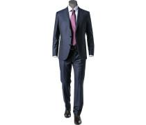Herren Anzug, Shaped Fit, Schurwolle Super150 Reda, dunkelblau