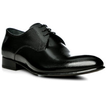 Herren Schuhe Derby, Leder, schwarz
