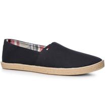 Herren Schuhe Espandrilles Textil navy blau