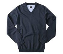 Herren Pullover, Modern Fit, Baumwolle, rauchblau