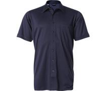 Herren Hemd Jersey marine blau