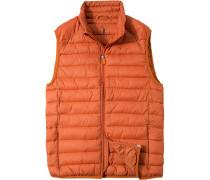 Herren Jacke Steppweste, Microfaser PLUMTECH® wasserabweisend, orange