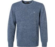 Pullover Casual Fit Merinowolle-Alpaka indigo