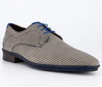 Schuhe Derby Kalbleder sand gemustert