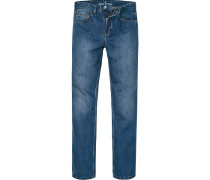 Herren Jeans Comfort Fit Baumwolle jeansblau