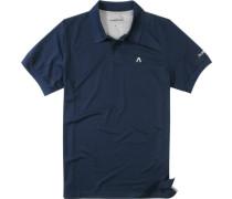 Herren Polo-Shirt Microfaser-Piqué Coolmax® navy blau