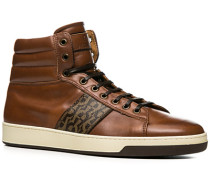 Herren Schuhe Sneaker, Kalbleder, braun