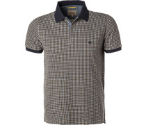 Herren Polo-Shirt, Baumwolle, grün gemustert