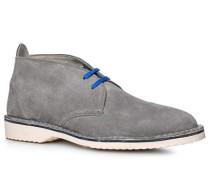 Herren Schuhe Desert Boots, Kalbvelours, hellgrau