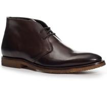 Herren Schuhe Desert Boots Kalbleder glatt testa di moro braun