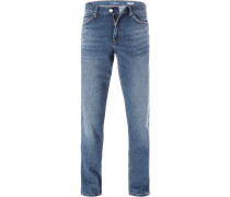 Herren Jeans, Comfort Fit, Baumwolle, blau