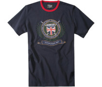 Herren T-Shirt, Polo Club, Navy blau