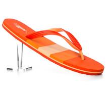Herren Schuhe Zehensandalen, PVC, orange