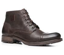 Herren Schuhe Stiefelette Kalbnappa dunkel