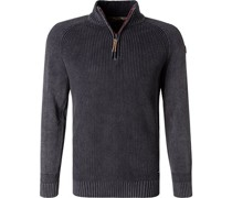 Pullover Troyer Baumwolle anthrazit