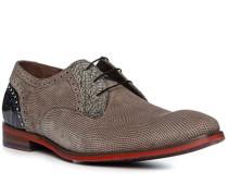 Schuhe Derby Veloursleder taupe