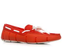 Herren Schuhe Loafer, Kautschuk, rot
