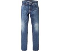 Herren Jeans Original Fit Baumwolle denim blau