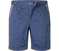 Herren Hose Shorts Regular Fit Baumwoll-Stretch marine blau