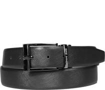 Herren Gürtel Wendegürtel schwarz-grau Breite ca. 3,5 cm