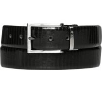 Herren Gürtel schwarz-dunkelbraun Breite ca. 3,5 cm