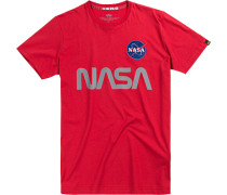 Herren T-Shirt Baumwolle rot