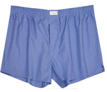 Herren Unterwäsche Boxershorts, Fil-à-Fil, blau