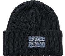 Herren Mütze Wolle navy blau