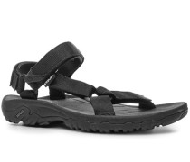 Herren Schuhe Sandalen Textil schwarz