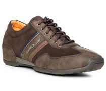 Herren Schuhe Sneaker, Veloursleder, braun